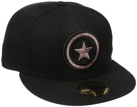captain america shield baseball cap hat red blue 39thirty marvel men craze fitted black