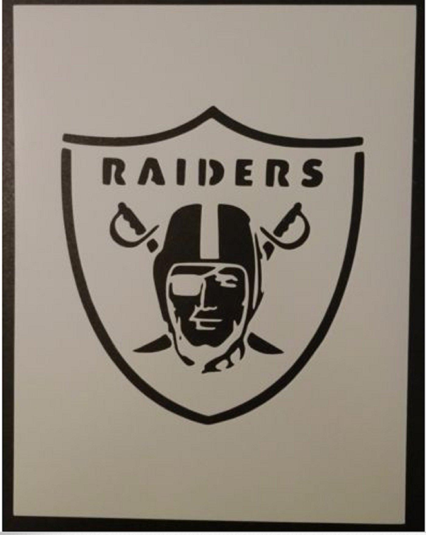 TNS STORE Oakland Raiders Football 8.5'' x 11'' Custom Stencil