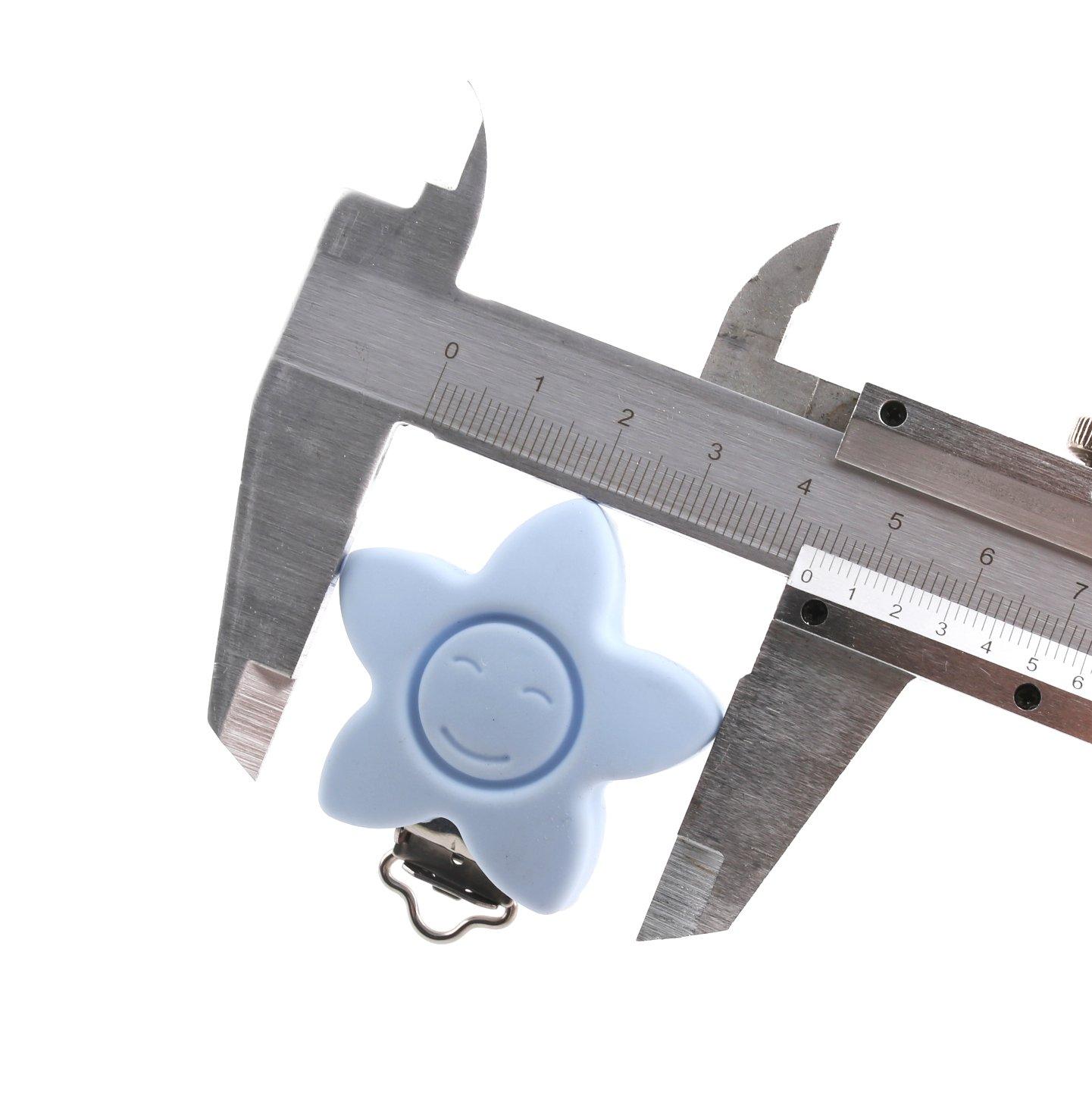 baby tete Clips de Chupete Clip de Dentici/ón de Silicona Mordedor 10pcs Color Mixto Juguetes de Bebe Accesorios de Bricolaje de Joyer/ía de Enfermer/ía