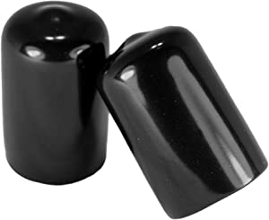 Prescott Plastics 5/8 Inch Round Black Vinyl End Cap, Flexible Pipe Post Rubber Cover (10)