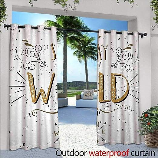 BlountDecor Cortina de Cristal y Vino, Impermeable, Resistente al óxido, con Ojales, Color Negro, Blanco y Rubor: Amazon.es: Jardín