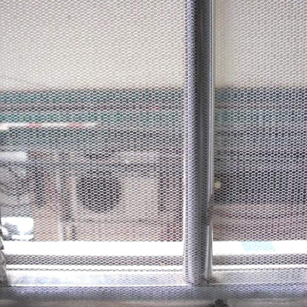 Pigupup Curtain Mesh compensazione Fai da Te Regolabile Autoadesivo Schermo Finestra Invisibile con Nastro Adesivo