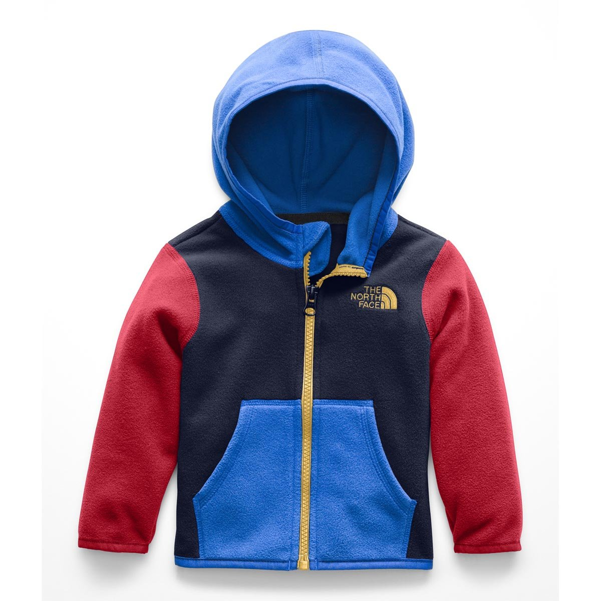 The North Face Kids Baby Girl's Glacier Full Zip Hoodie (Infant) Cosmic Blue/Turkish Red 6-12 Months