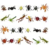 Fun Central (AZ917) 2packs of 12pc 2 Inch Mini Insect Bug Figures, Bug Toys, Small Plastic Insects, Insects and Bugs, Toys for Kids, Educational Toys - for Birthday, Christmas, Halloween, Party Favors