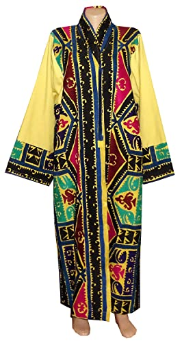 9ccec7e29a9 Amazon.com: VINTAGE GORGEOUS UZBEK SILK HAND EMBROIDERED ROBE CHAPAN JACKET  BUKHARA A11415: Handmade