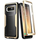 Samsung Galaxy Note 8 Case,i-Blason [Magma Series] Built-in Screen Protective Clear Back Cover With Holster [Heavy Duty] Belt Clip Shell for Note 8 (Gold)