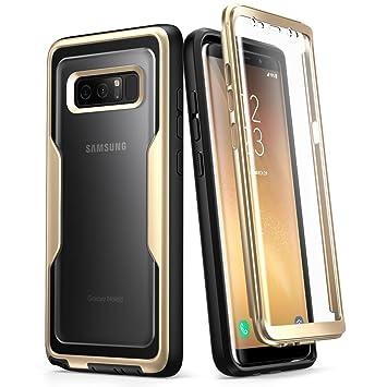 i-Blason Carcasa para Samsung Galaxy Note 8 (2017), Funda Completa Resistente Protector de Pantalla Integrado, Serie Unicorn Beetle Pro (Oro)