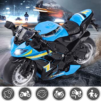 Amazon com: Jinjin Motorcycle Toy,Cool Bump and Police Motorcycle 2