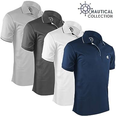ca915eb9699e9 Albert Morris Polo Shirt Pack for Men 4 Pack - Nautical, Small - Short  Sleeve