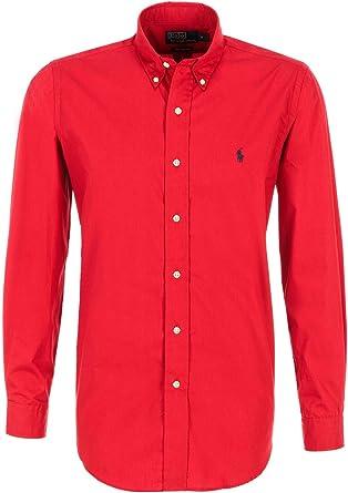 Ralph Lauren Camisa de hombre, Park Avenue Red, Custom Fit