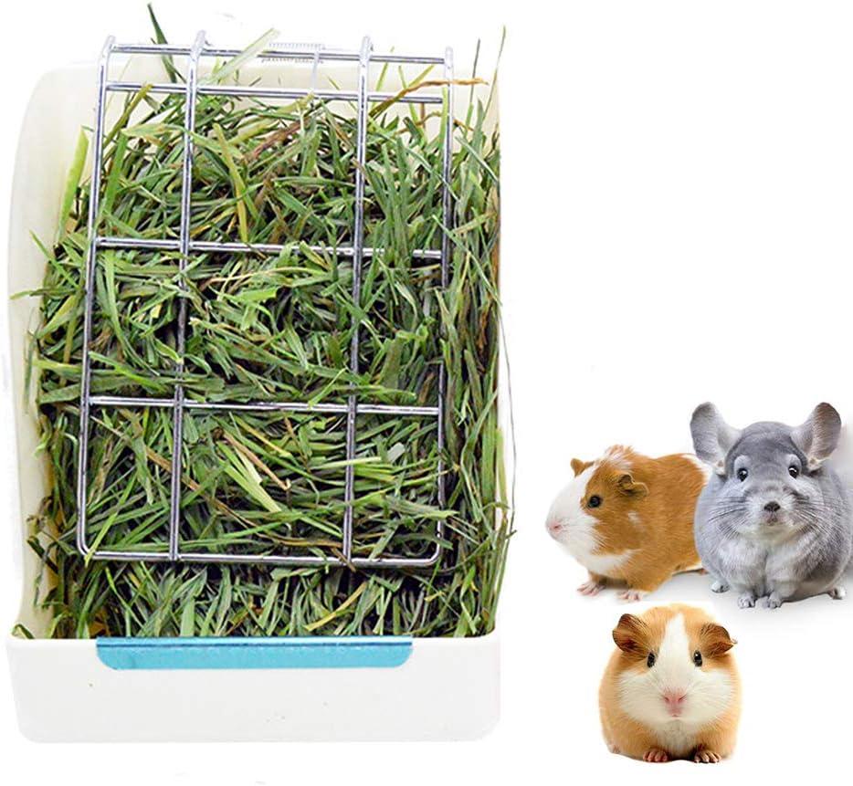 comedero de plastico cobayos hamsters conejos pasto blanco