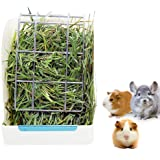 STKYGOOD Rabbit Feeder Bunny Guinea Pig Hay Feeder,Hay Guinea Pig Hay Feeder,Chinchilla Plastic Food Bowl (White-A)