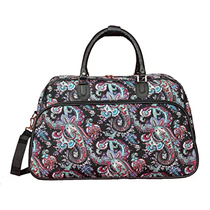 1dd64e9976bd Amazon.com   Red Blue Black Girls Artisan Paisley Pattern Carry On ...
