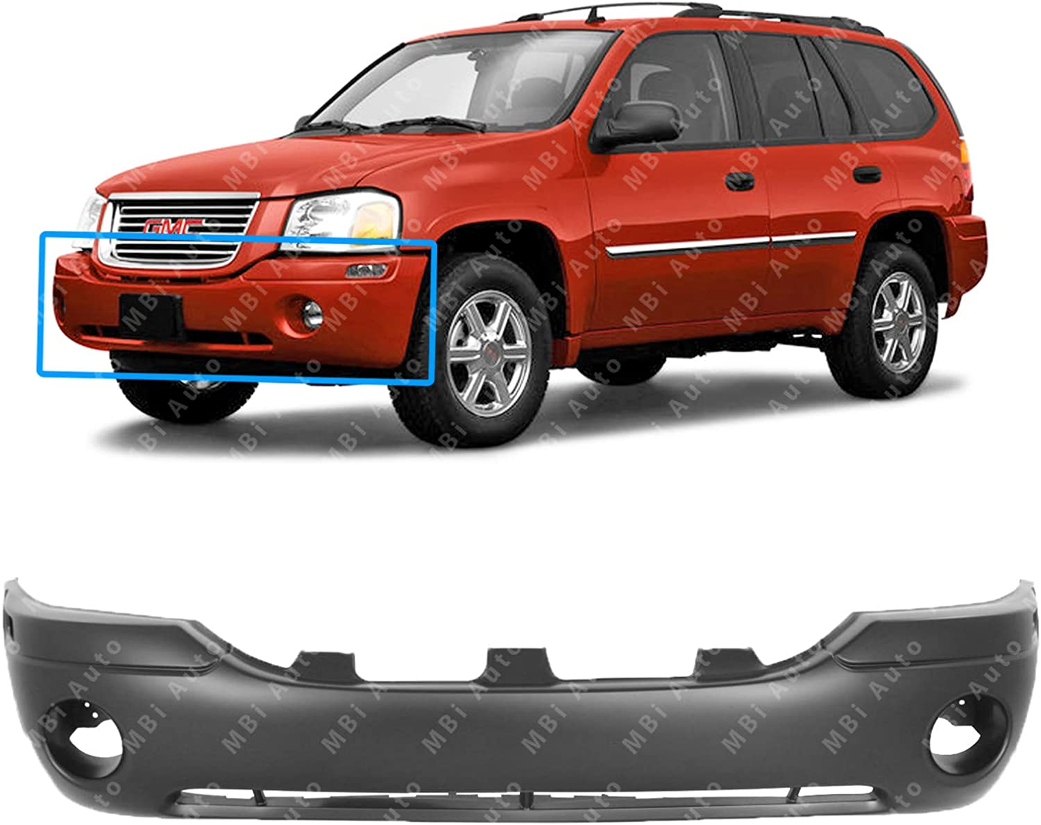 NEW GM1000641 BUMPER COVER FRONT FOR GMC ENVOY 2002 2009