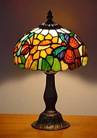 Noshy ut08001 tiffany style butterfly stained glass table lamps noshy ut08001 tiffany style butterfly stained glass table lampsmulticolor8 inch diameter aloadofball Image collections