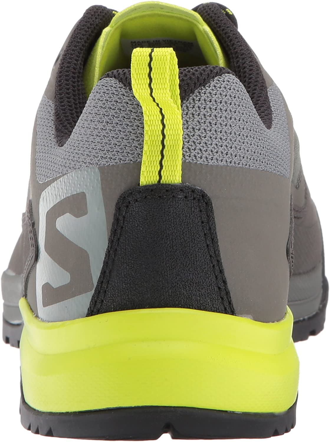 SALOMON Men's X Alp Spry Hiking Shoe Castor Gray/Beluga/Lime Punch