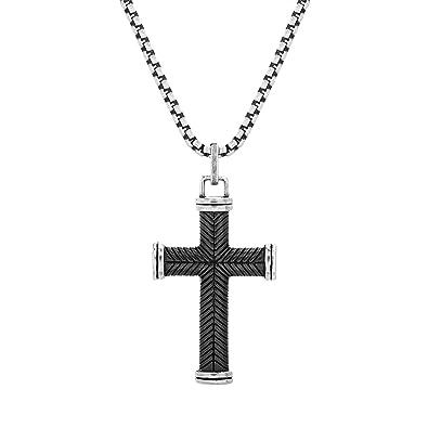 Amazon.com: Steve Madden - Collar con colgante de cruz de ...