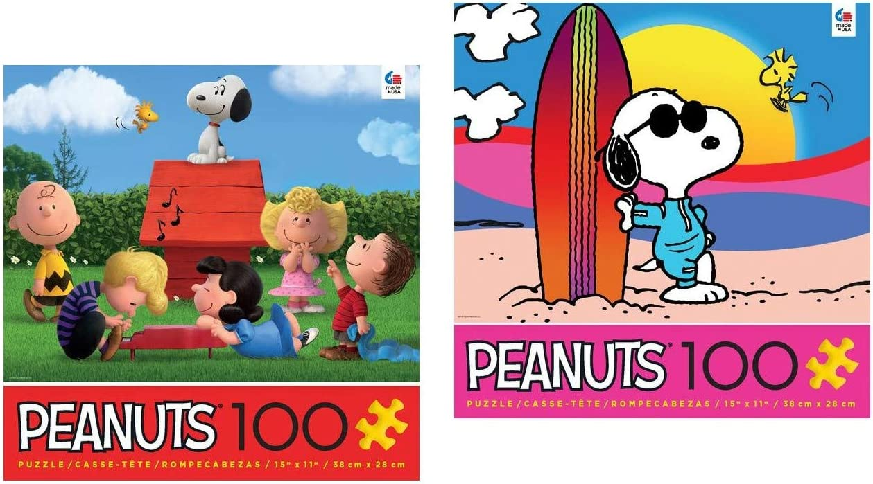 Jigsaw Puzzle Entertainment Peanuts Snoopy /& Woodstock 300 piece NEW Made in USA