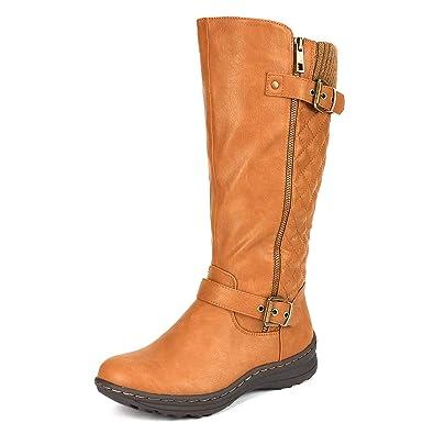 fb969d5768a1 DREAM PAIRS Women s Fur Lined Flat Winter Snow Boots