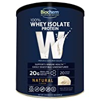 Biochem 100% Whey Isolate Protein - Natural Flavor - 24.6 oz - Pre & Post Workout...