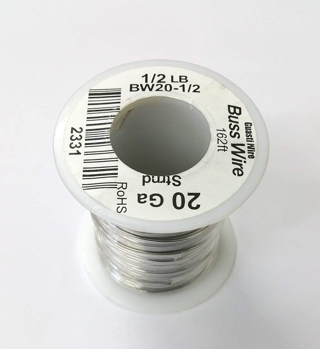 20AWG Bare Tinned Copper Bus Wire - 1/2 Pound Roll - Electrical ...