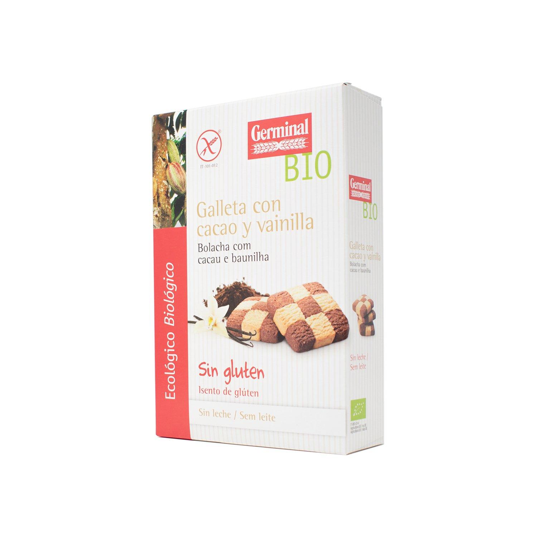 Germinal Galletas Sin Gluten de Cacao con Vainilla - Paquete ...