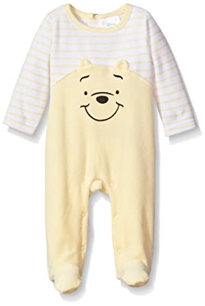 873d80415db8 Disney Baby Boys  039  Winnie the Pooh Velour Footie Sleeper  Amazon.in   Clothing   Accessories
