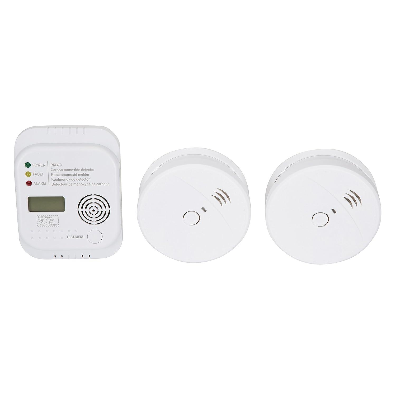 Smartwares FSSCO-15 Detectores de CO2, Calor, Humo y extintor, 9 V, Blanco: Amazon.es: Bricolaje y herramientas