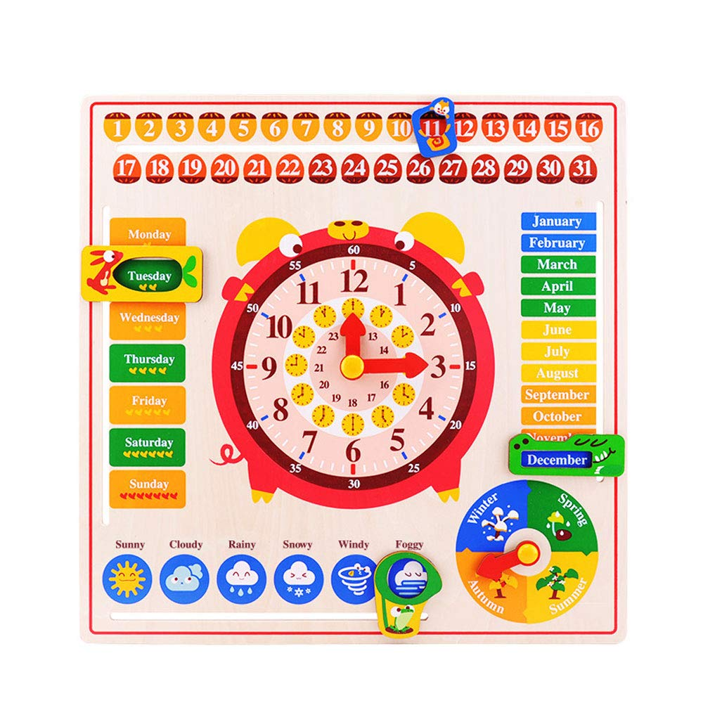 Jian E -// Toys - Children's Educational Toys Old Calendar Puzzle Toys Boys and Girls Early Learning Puzzle Kindergarten Teaching Aids Enlightenment Toys /-/