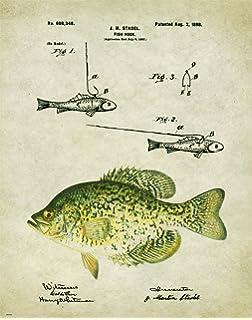 Antique Fishing Lure Patent Art Print 11x14 Unframed Walleye Bass Fish  PAT440