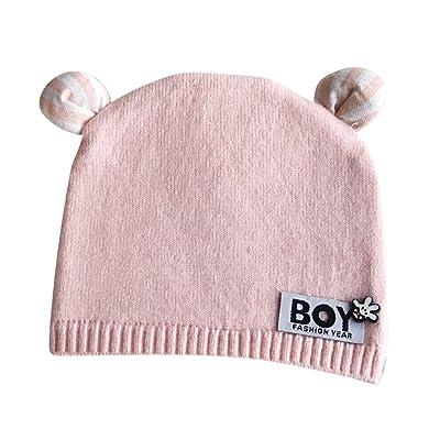 Bonnet Bébé - Enfant Crochet Casquettes Chaud Avec Oreilles - hibote 9f3e1bc4148