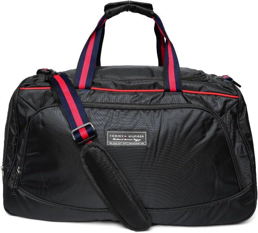 Tommy Hilfiger Polyester 58 cms Black Travel Duffle (TH/GLA01262)