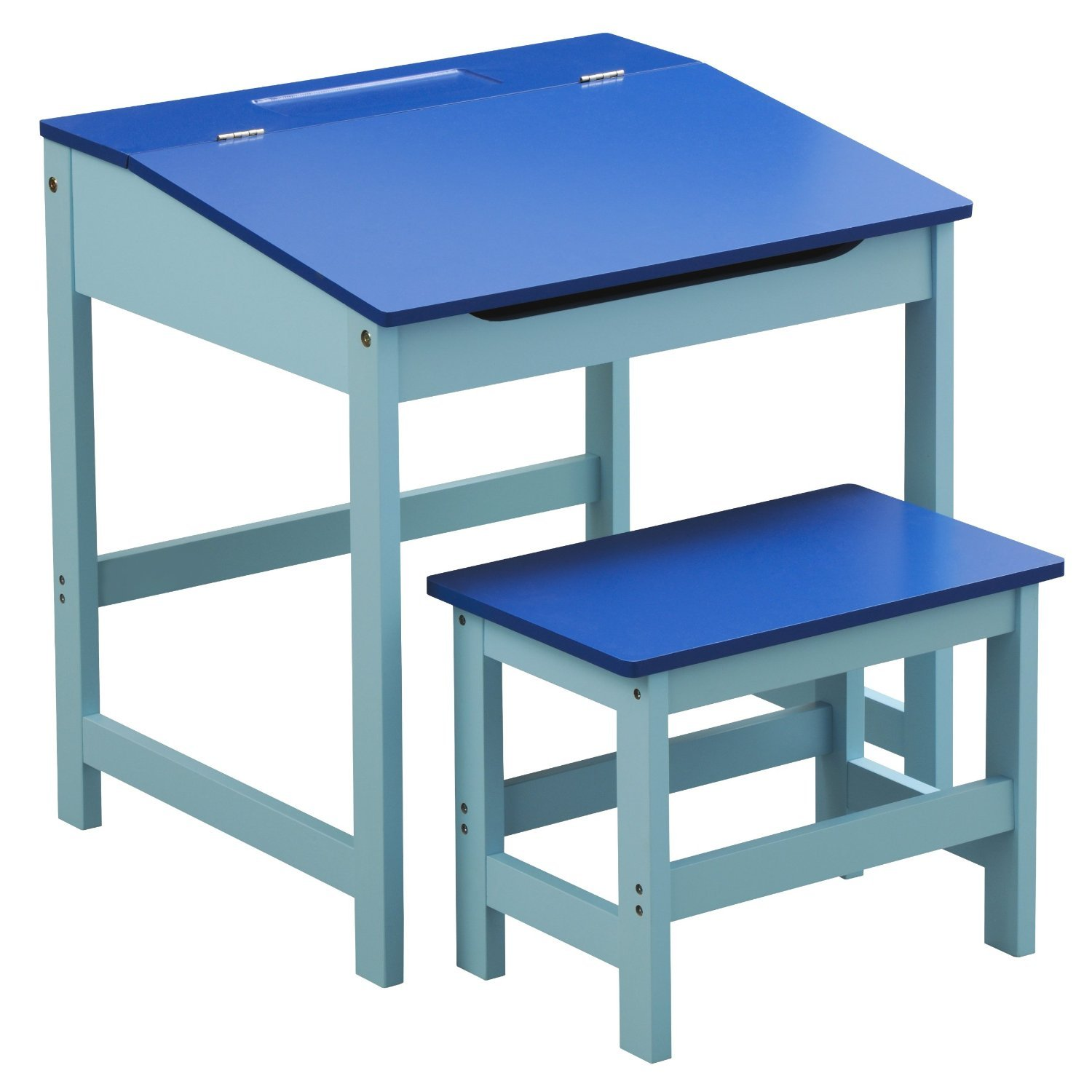 PR KIDS/CHILDRENS PLAY DESK AND STOOL SET IN BLUE Apollo Furnishings