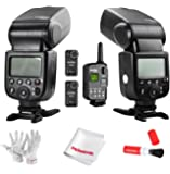 Godox VING V850 Li-ion Camera Flash Speedlight Recycling Charge Manual Flash with Godox FT-16S Wireless Power Control Flash Trigger Receiver for DSLR Cameras with Universal Hotshoe