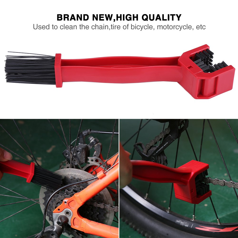 1 Set Bike Chain Cleaning Portable Plastic Brush Chain Tool Bicycle Cleaner Kit