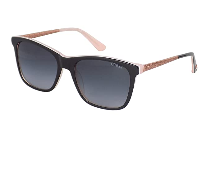 GUESS GU7484-5401B, Gafas de Sol para Mujer, Shiny Black/Smoke,