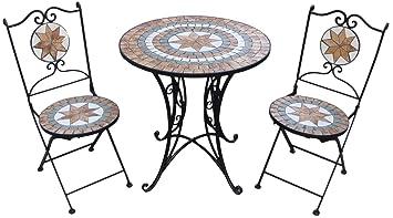 Amazonde Giardino Mosaikset Gartenset 1 Tisch 2 Stühle Ay2656