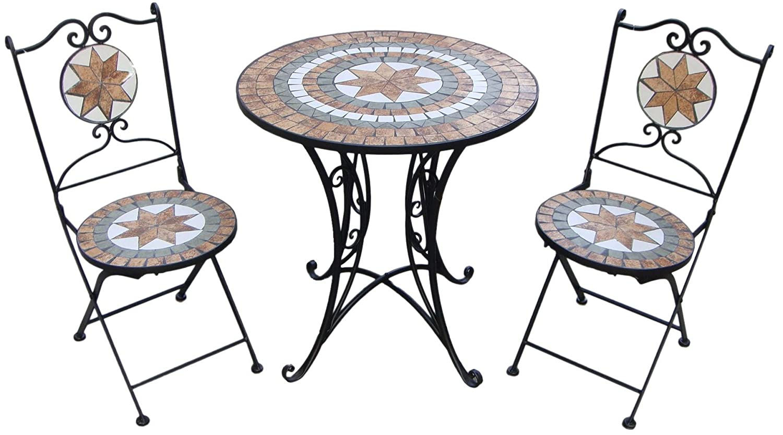 Giardino Mosaikset Gartenset 1 Tisch + 2 Stühle Stühle Stühle AY2656 f4700e