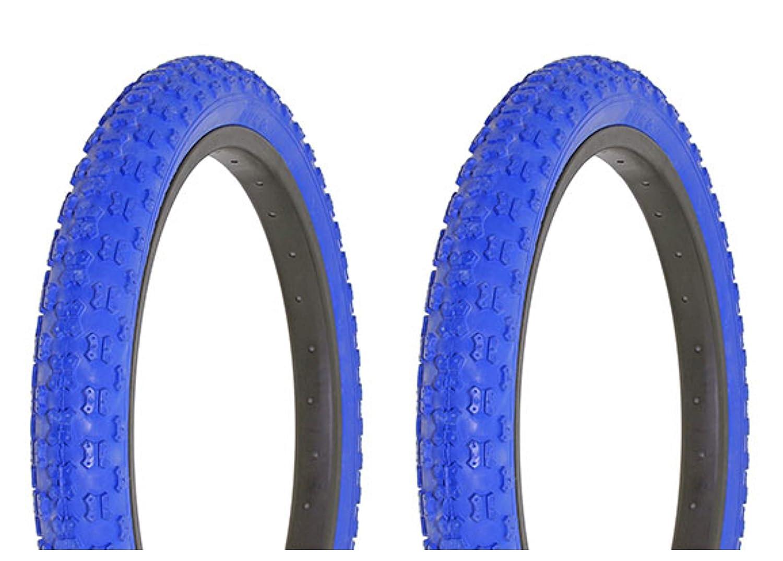 "16/"" x 2.125 BLUE Bicycle Tire Lowrider Cruiser BMX MTB Bikes New"