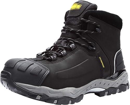 LARNMERN Zapatillas de Trabajo Hombre,LM 8057 S3 Zapatillas de Seguridad Zapatos de Puntera de Acero Resistente al Calor Zapatos de construcción