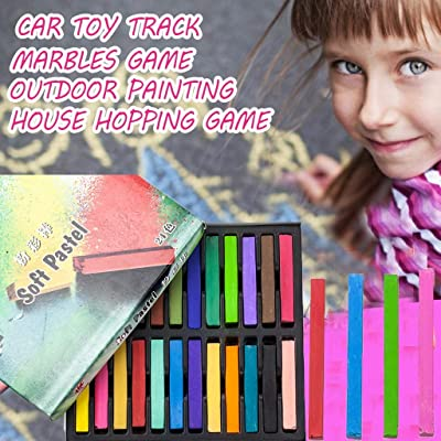 6/12/24PCS Colorful Sidewalk Chalk for Children Outdoor Indoor Side Walk Outside for Kids Drawing Painting DIY Home Gift: Clothing