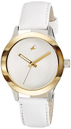 b1a4c550b Image Unavailable. Image not available for. Colour  Fastrack Monochrome  Analog White Dial Women s Watch ...