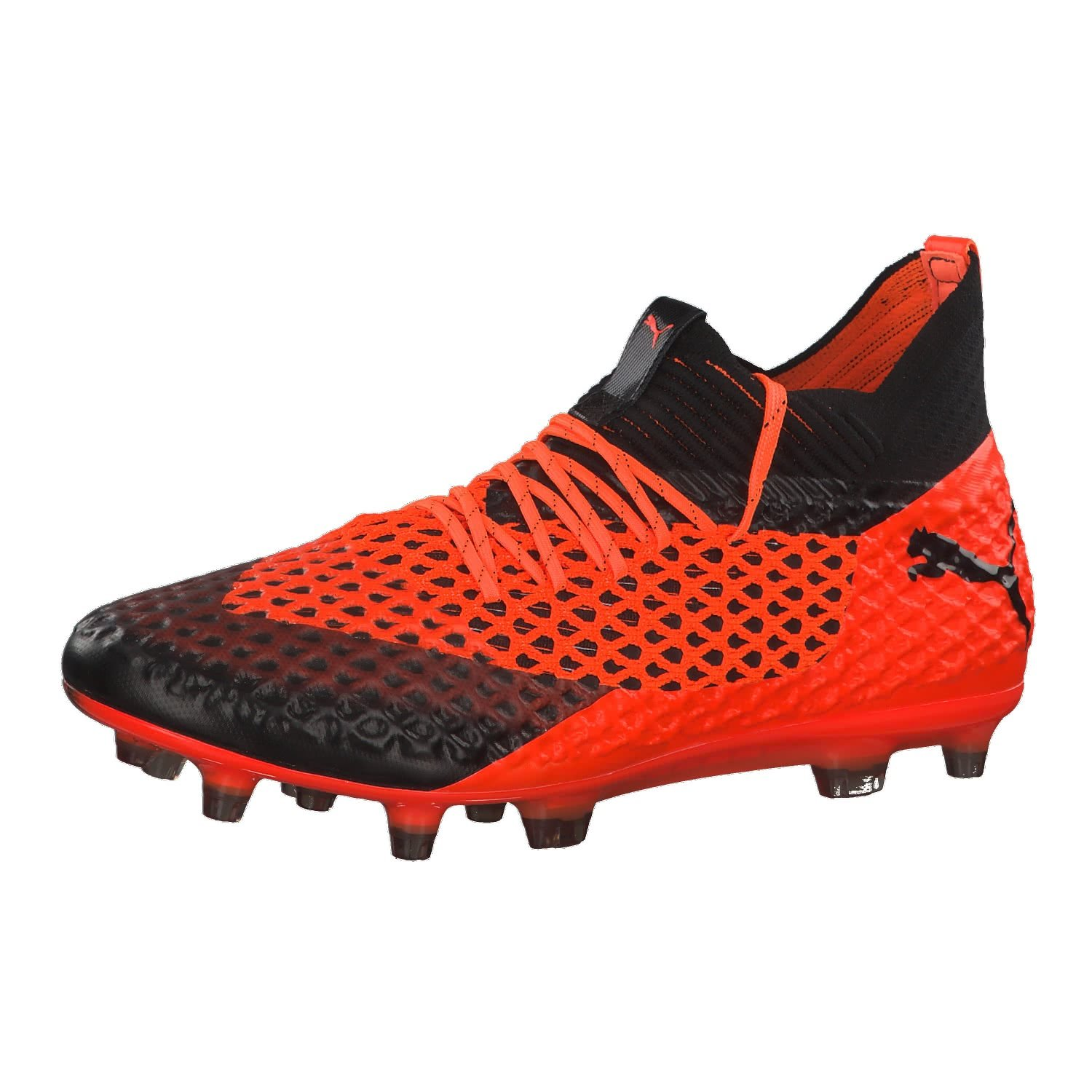 Puma Future 2.1 Netfit FG/AG, Zapatillas de Fútbol para Hombre 40 EU|Negro (Puma Black-shocking Orange 02)