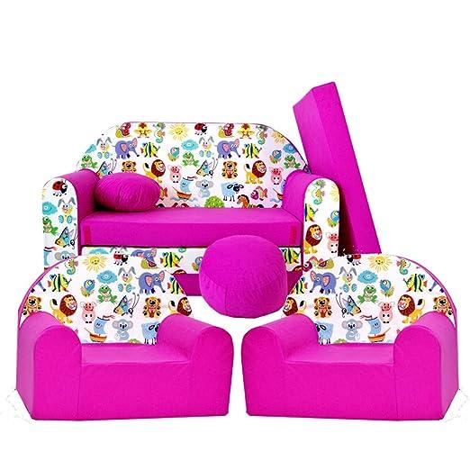H5 - Juego de sillón Infantil (3 Unidades, Incluye 2 ...