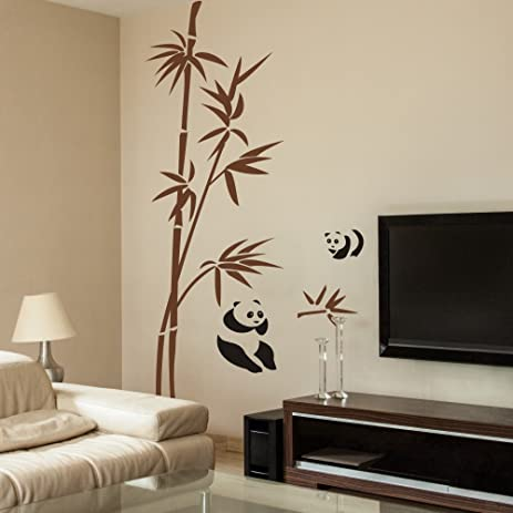 Bamboo Wall Decal Vinyl Bamboo Wall Decor Panda Wall Sticker Asian Bamboo  Wall Garphic Home Art