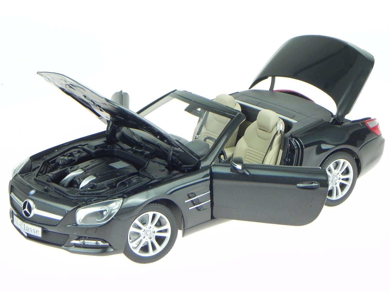 Mercedes R231 SL-Klasse SL 500 magnetit schwarz Modellauto Norev 1:18