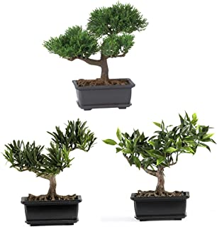 nearly natural 4122 bonsai decorative silk plant collection 85 inch green set bought bonsai tree