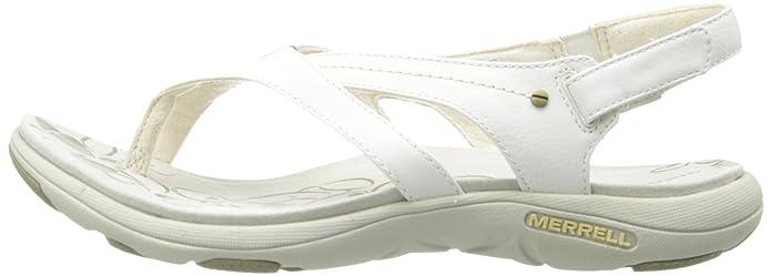 0d1e0b85dc8f Merrell Women s Buzz White Leather Sandals 6 B(M) US  Amazon.co.uk  Shoes    Bags