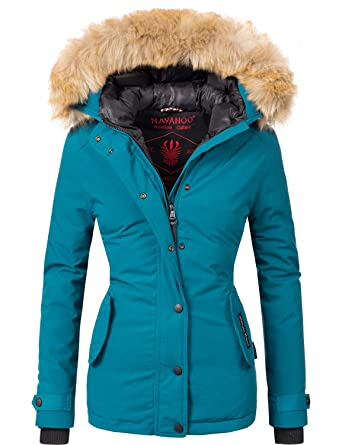 e600cab0a7c1 Navahoo Damen Winter Jacke Winterparka Laura 10 Farben XS-XXL  Amazon.de   Bekleidung