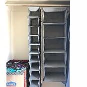 Amazon.com: Organizador colgante de zapatos, con 10 tablas ...